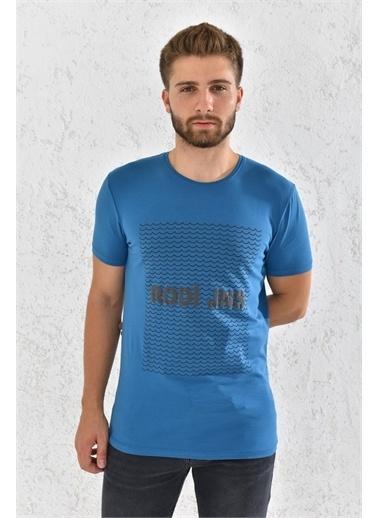 Rodi Jeans Rodi Erkek Likralı Rodi Baskılı T-Shirt Rd21Ye270006 Petrol